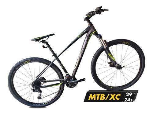 Bicicleta montañera camp 29 sistema shimano acera 3x8