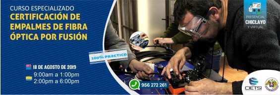Curso especializado 1 certificación de empalmes de fibra