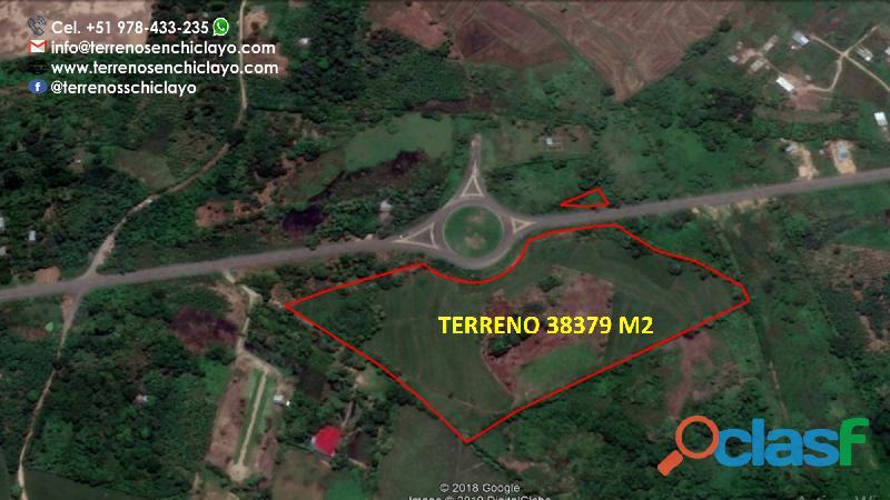 En venta un hermoso terreno de 38379m2, frente a al ovalo de la via de evitamiento, morales tarapoto