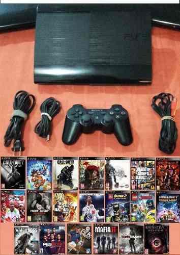 Playstation 3 superslim 250 gb mas 25 juegos al escoger