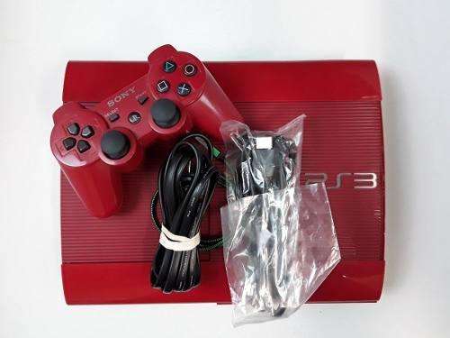Playstation 3 superslim 500 gb rojo coleccion mas 35 juegos
