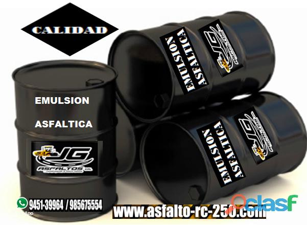Emulsion asfaltica de excelente calidad en cilindro de 55 galones