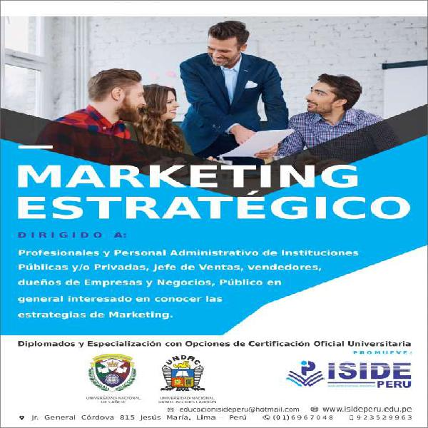 Curso de marketing estratégico en lima