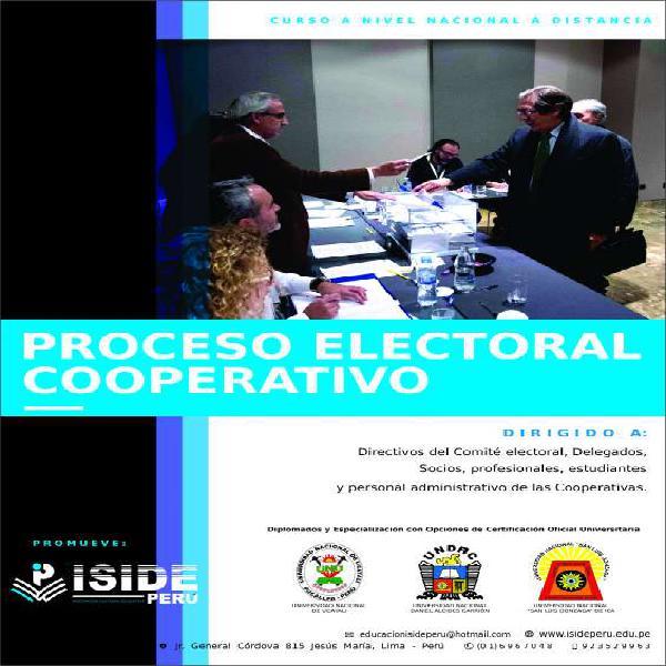 Curso de proceso electoral cooperativo en lima