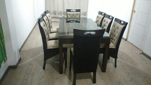 Juego de comedor de 8 silla de cedro al mas juego de muebles