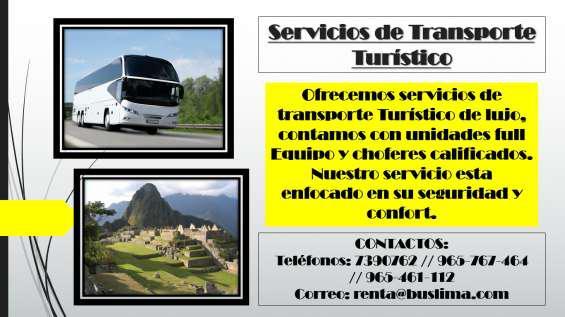 Servicios de transporte turístico en lima