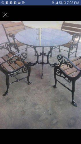 Muebles ornamentales comedor, o sala de fierro fundido