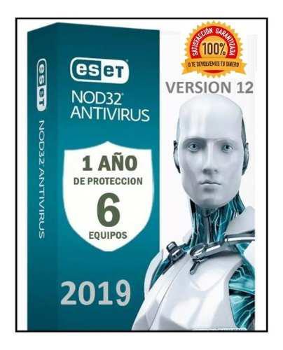 Eset nod32 antivirus 1 año una licencia original (6pc) 2019