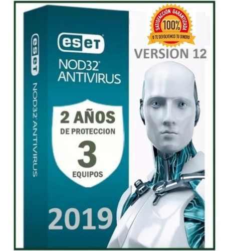 Eset nod32 antivirus 2 año una licencia original (3pc) 2019
