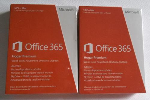 Licencia mensual office 365 hogarpremium 32/64 pc ilimitadas