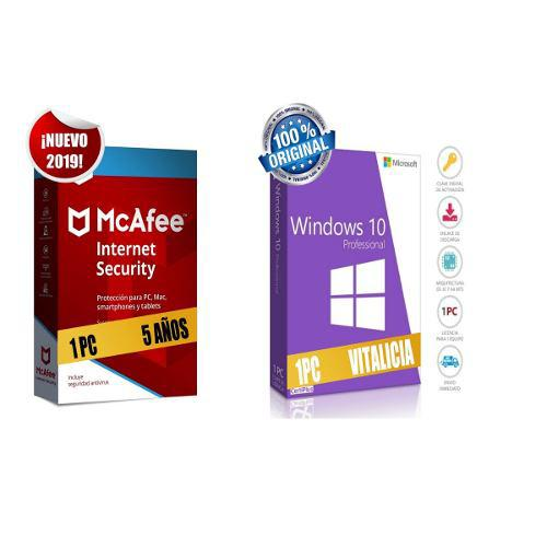 Mcafee internet security 2019 1 pc 5 años mas windows 10