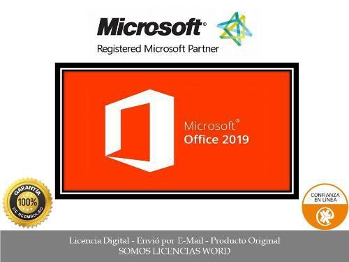 Office 2019 professional plus licencia original para 5 pc