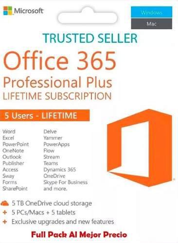 Office 365 original,para 5 equipos win/mac/ios/andr