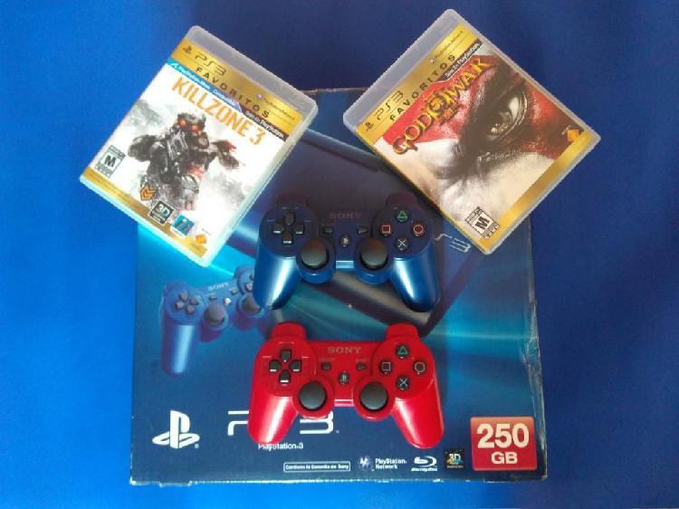 Playstation 3 250gb de coleccion azul