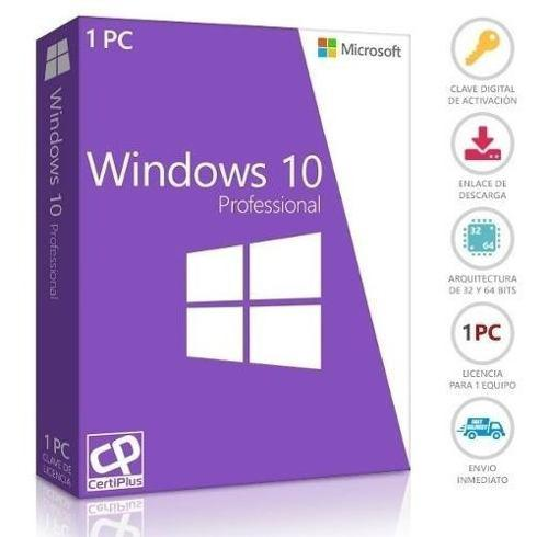 Windows 10 pro licencia digital original 1 pc