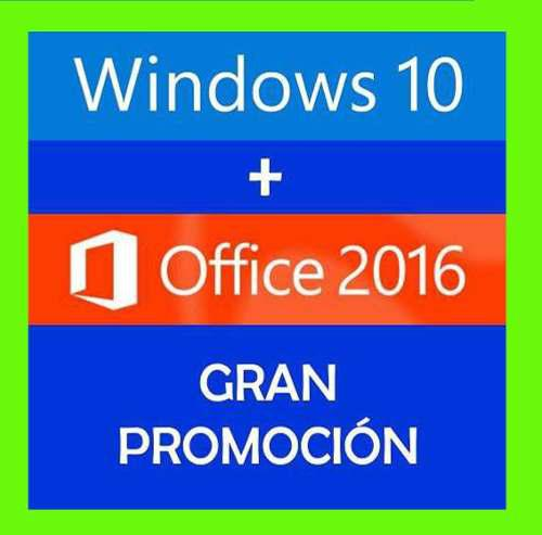 Windows 10 pro + office 2016 pro licencias originales
