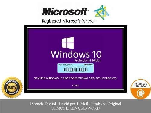 Windows 10 professional licencia original para 5 pc