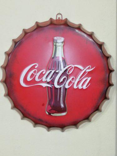 Chapas Decorativos De Coca-cola En Alto Relieve