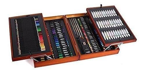 Conjunto de arte Grande Disney Niños Artesanía caso Pintura Pegatinas Colorear Lápiz Estaño Juguete Nuevo