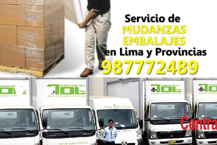 Servicio de mudanzas y embalajes en lima y provincias.