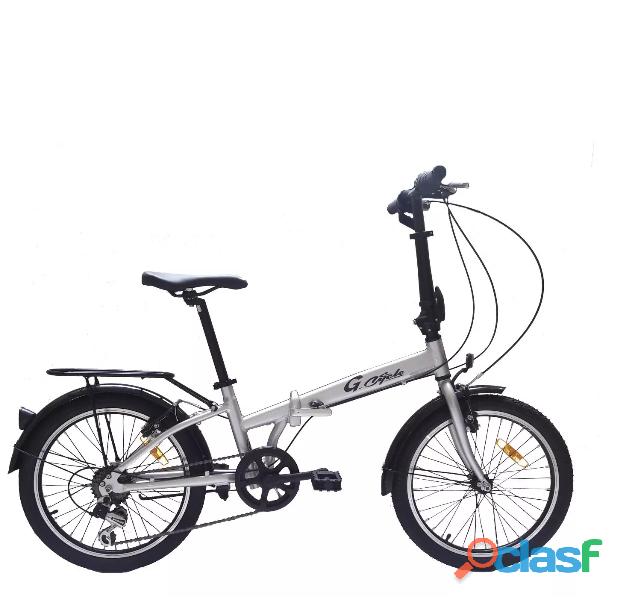 Bicicleta plegable de aluminio unisex modelo 2019