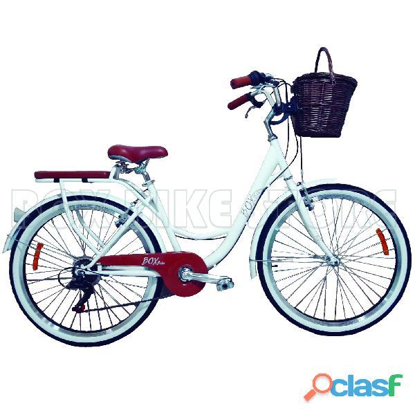 Bicicleta vintage box bike blanco   invierno 2019