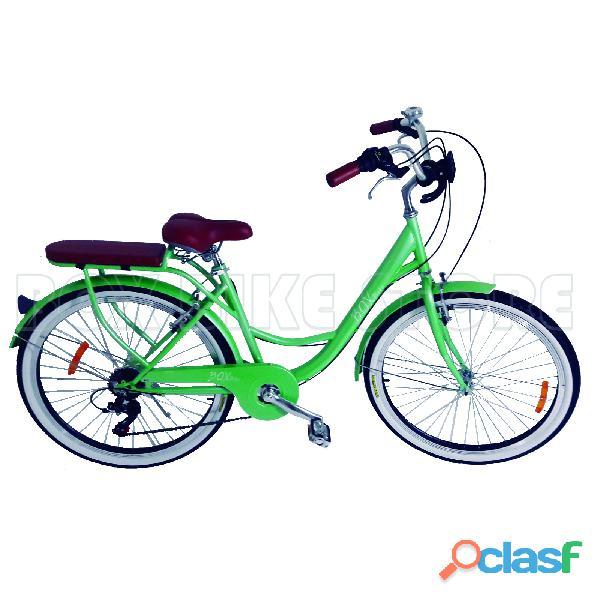 Bicicleta vintage box bike verde   invierno 2019
