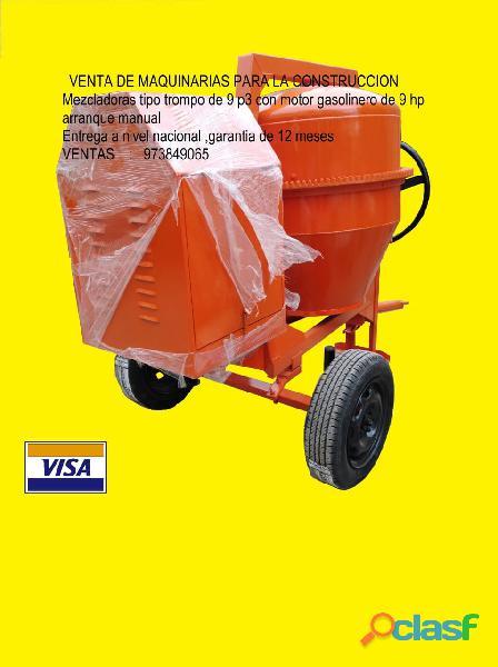 Mezcladoras, planchas compactadoras, cortadoras, winches, vibradoras ventas 973849065