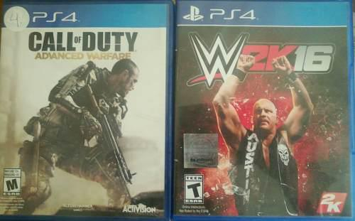 Juegos ps4, call of duty y w2k16
