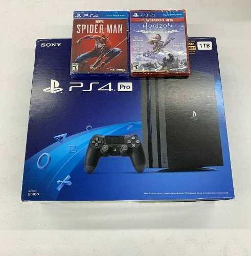 Playstation 4 pro 1tb nuevo y sellado + 2 juegos + 2 mandos