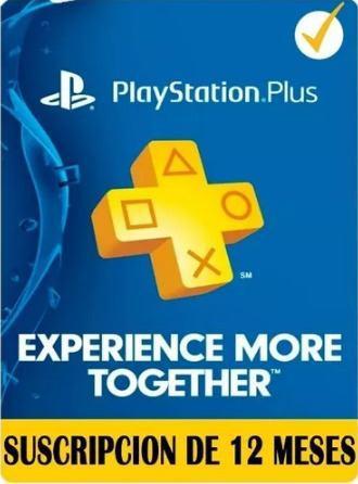 Playstation plus 12 meses / psn plus 1 año ps4 juga online