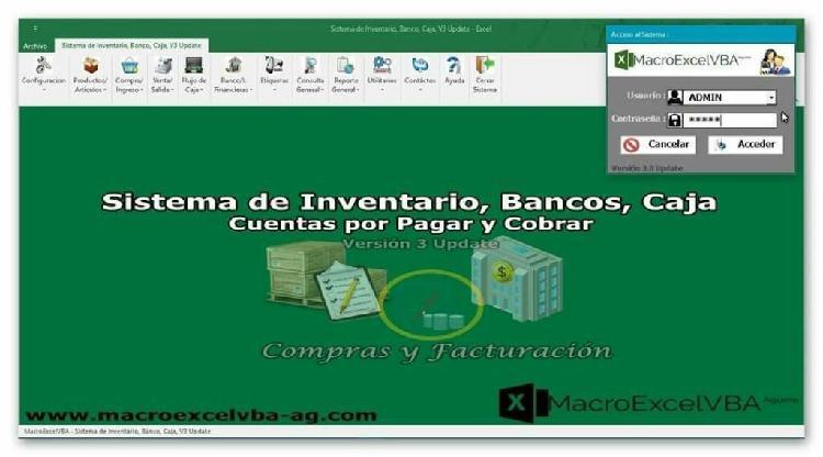 Sistema de inventario, bancos, caja