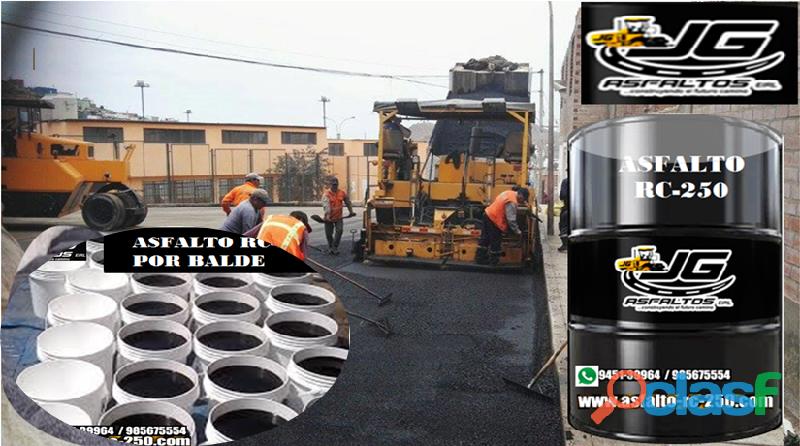 Asfalto rc 250 en cilindro de 55 galones y en baldes de 5 galones