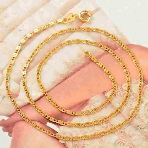 Cadena collar oro laminado amarillo de 18k mod twinkle z71