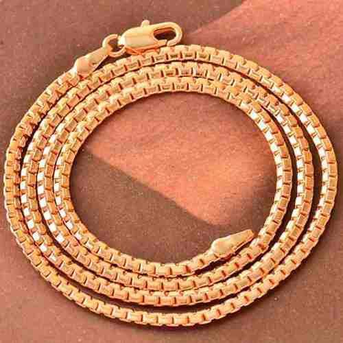 Cadena collar unisex oro laminado rosa de 18k mod grape z110