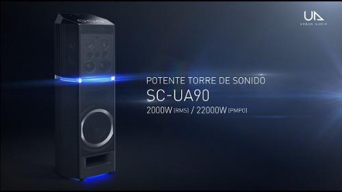 Minicomponente panasonic urban audio ua90 2000w negro
