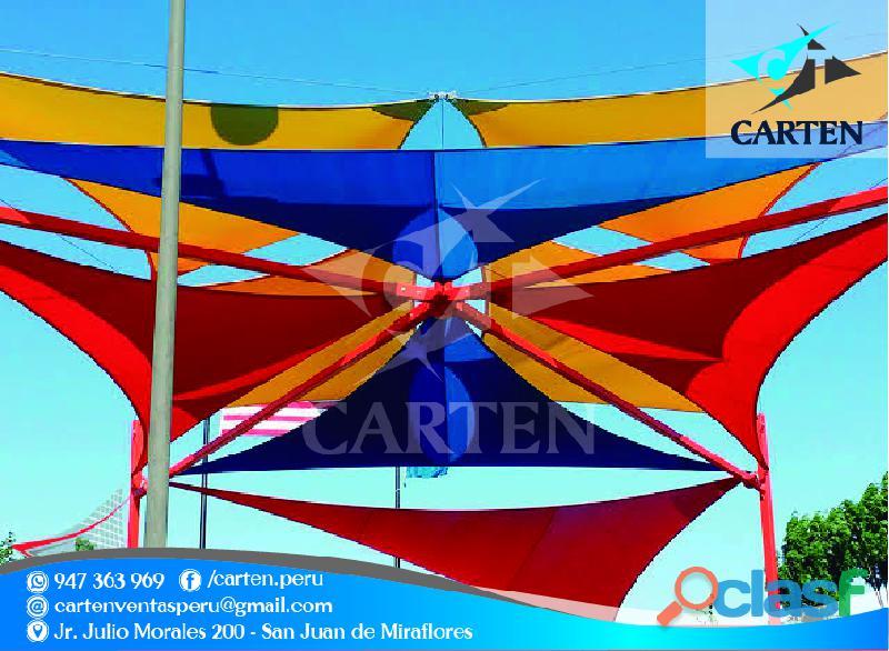 Toldos tensionados colores variados carten perú