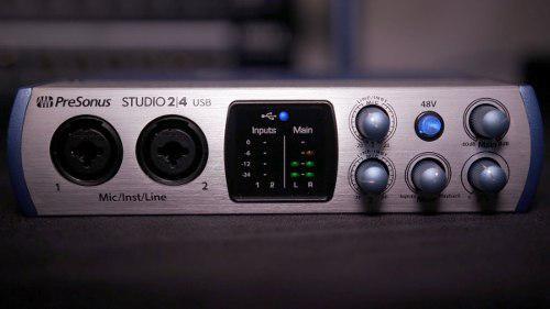Interfaz de audio presonus studio 2 4