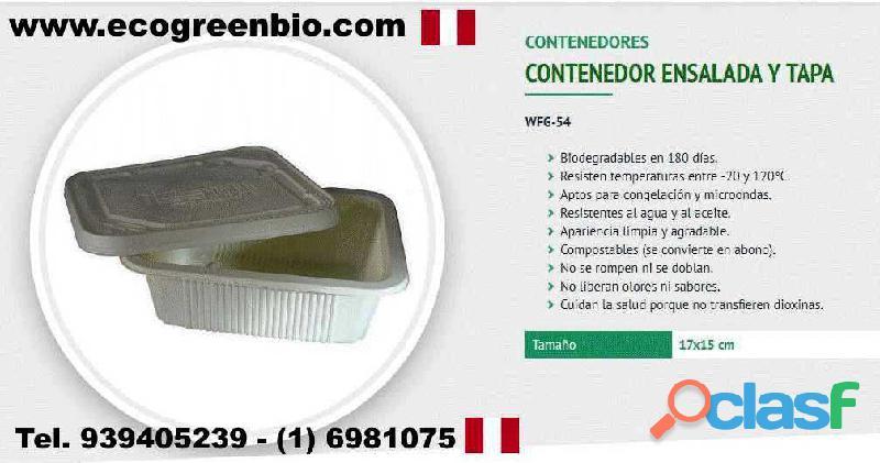 Biodegradables Lima Perù PLATOS, BANDEJAS, BOWLS, CONTENEDORES, VASOS,CUBIERTOS
