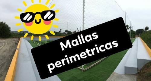 Malla perimetricas para campo de futbol de grass sintetico