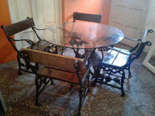 Muebles Ornamentales De Comedor O Terraza De Fierro Forjado