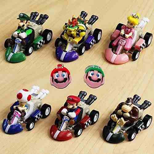 Tienda de pantalones mario kart cars juego de figuras de pal