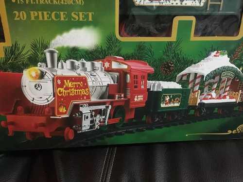 Tren de navidad con luces sonido, echa humo