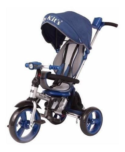 Triciclo pedal flex azul - baby kits