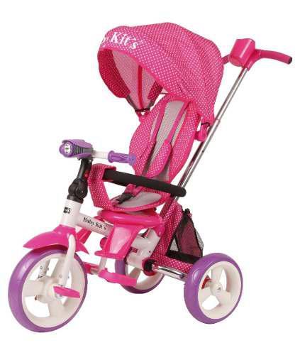 Triciclo pedal flex rosado con lila - baby kits
