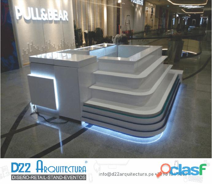 Modulos, stand y tiendas para centros comerciales y ferias. fabricantes directos.