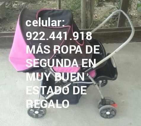 Coche para bebé niña rosa infanti usado regalo ropa rn