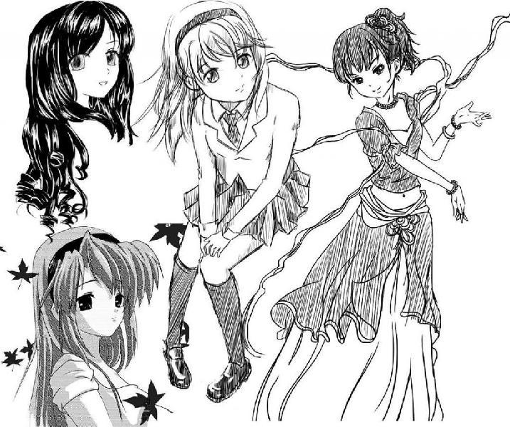 Dibujante estilo manga - anime - historieta - comic. cel