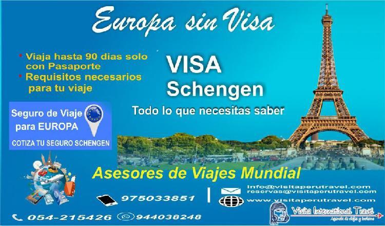 Europa sin visa - europa económico- tours, pasajes y