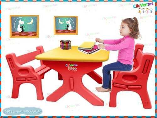 Juegos para niños - set didáctico mesa con silla -basa